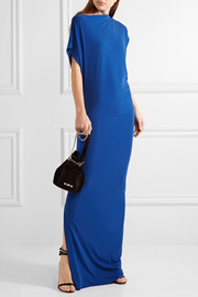 Nasalio draped stretch-crepe maxi dress