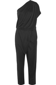 Disquon one-shoulder modal-blend jersey jumpsuit