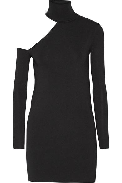 By Malene Birger - Ayai Cutout Stretch-knit Turtleneck Sweater - Black