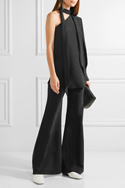 By Malene Birger Rinula one-shoulder silk crepe de chine top