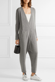 Inoqa wrap-effect wool and cashmere-blend jumpsuit