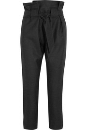 Kung Fu tapered wool pants
