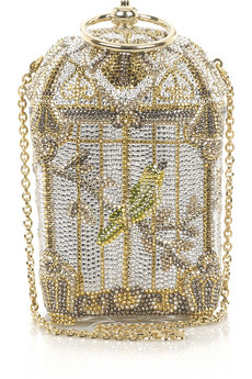 Judith LeiberBirdcage fine-crystal bag