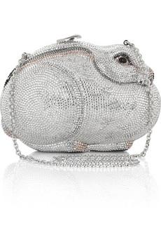 Judith LeiberRabbit fine crystal-embellished clutch