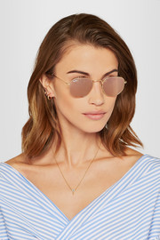 Ray-Ban Icons square-frame gold-tone mirrored sunglasses