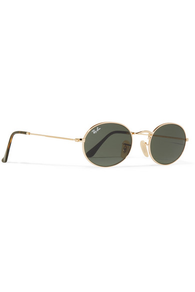 Gold Frame Oval Sunglasses : Ray-Ban Icons oval-frame gold-tone sunglasses NET-A ...