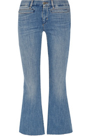 Marrakech cropped mid-rise flared jeans