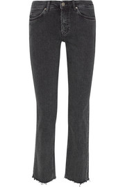 M.i.h Jeans Daily cropped high-rise straight-leg jeans