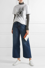 Caron cropped mid-rise wide-leg jeans