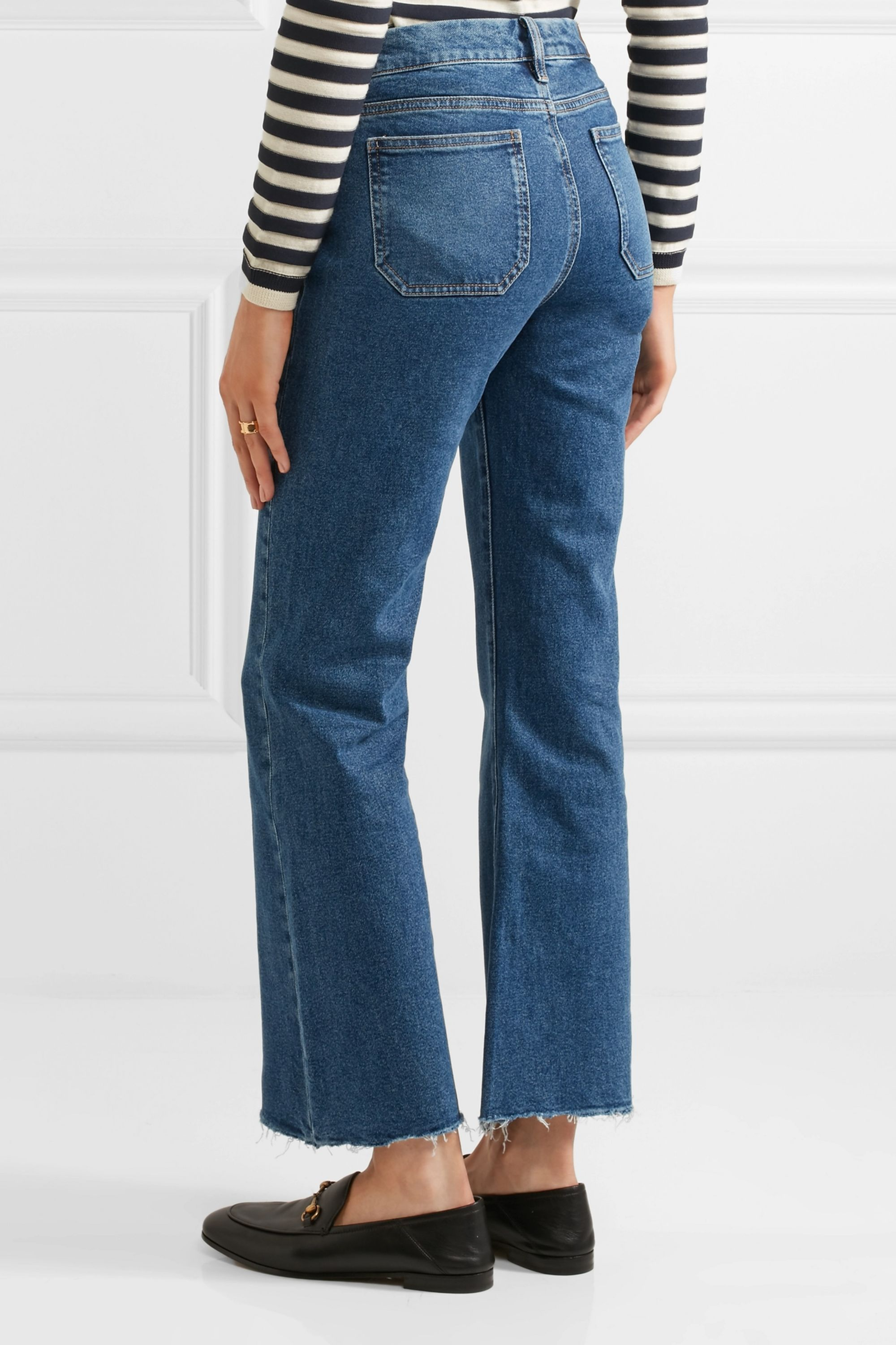 M.i.h Jeans Lou cropped mid-rise flared jeans
