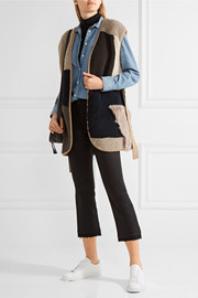 M.i.h Jeans Lana reversible patchwork shearling gilet