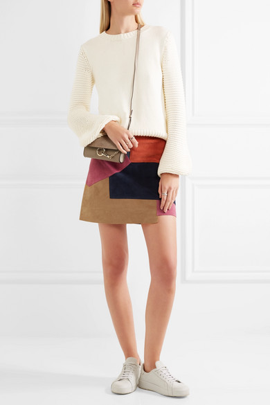 M.i.h Jeans | Kalle patchwork suede mini skirt | NET-A-PORTER.COM