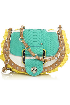 Versace | Block-color python bag | NET-A-PORTER.COM from net-a-porter.com