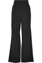 Stretch-wool wide-leg pants