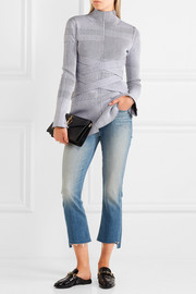 Mother Insider cropped high-rise slim-leg jeans