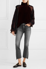 Mother The Insider cropped high-rise flared jeans