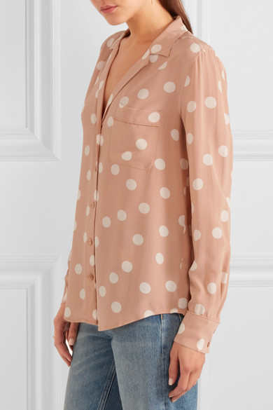 75da1403843d1 Equipment. Keira polka-dot washed-silk shirt. £162. Play