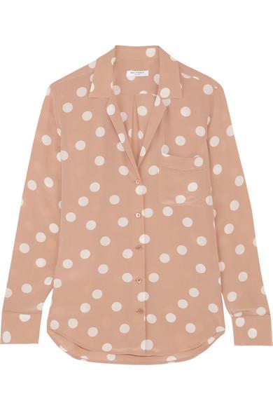 69f22bb74516c Equipment. Keira polka-dot washed-silk shirt