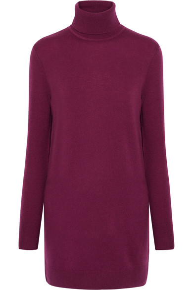 Equipment - Oscar Cashmere Turtleneck Mini Dress - Plum