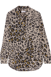 Equipment Reese leopard-print washed-silk shirt