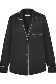 Keira washed-silk shirt