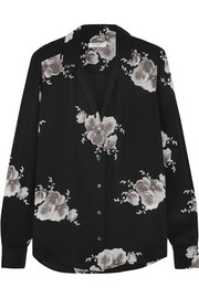Equipment Adalyn floral-print washed-silk shirt