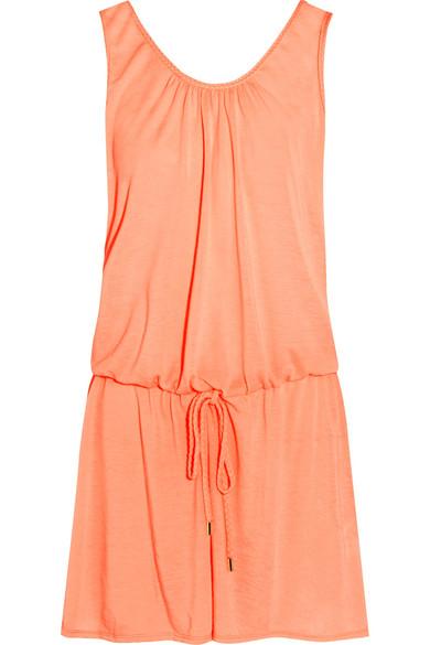 Heidi Klein - Bermuda Voile Mini Dress - Peach