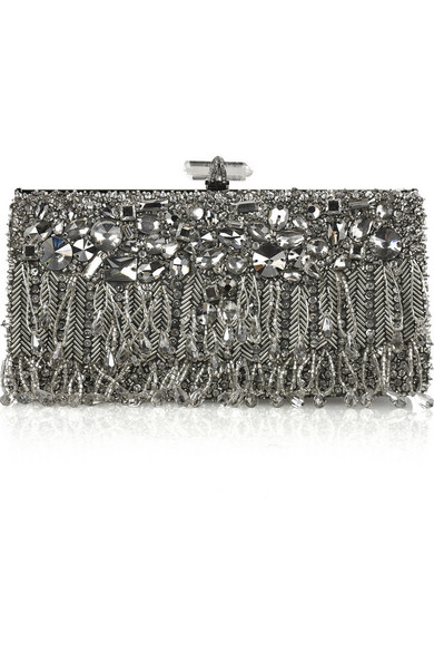 beaded clutch bag - Black Marchesa H9Hxue