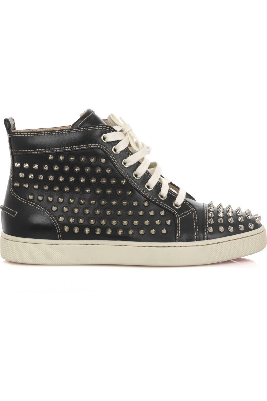 Black Louis studded hi-top sneakers