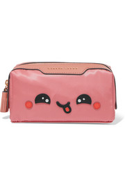 Girlie Stuff Kawaii leather-trimmed cosmetics case