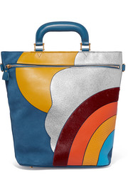 Anya Hindmarch Orsett paneled leather, calf hair and ayers tote