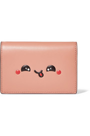 Kawaii embossed leather cardholder