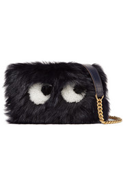 Anya Hindmarch Eyes mini leather-trimmed shearling shoulder bag