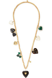 Recharmed Ti Amo 18-karat gold multi-stone necklace
