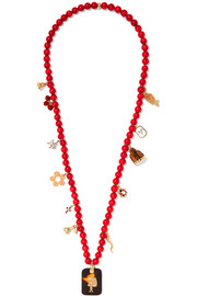 Carolina Bucci Recharmed Domenica 18-karat gold multi-stone necklace