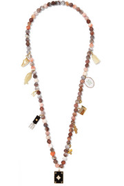 Carolina Bucci Recharmed Cosi 18-karat gold multi-stone necklace