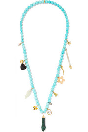 Carolina Bucci Recharmed Esmerelda 18-karat gold multi-stone necklace