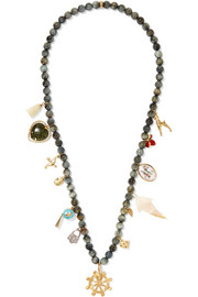 Carolina Bucci Recharmed Buongiorno 18-karat gold multi-stone necklace