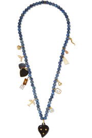 Carolina Bucci Recharmed Onda 18-karat gold multi-stone necklace