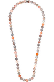 Carolina Bucci Recharmed 18-karat white gold, agate and diamond necklace