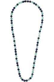 Carolina Bucci Recharmed 18-karat rose gold multi-stone necklace