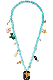 Carolina Bucci Recharmed Idea 18-karat gold multi-stone necklace