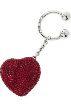 Judith Leiber|Heart N Soul keyfob|NET-A-PORTER.COM from net-a-porter.com