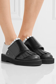 Marni Fringed two-tone leather brogues