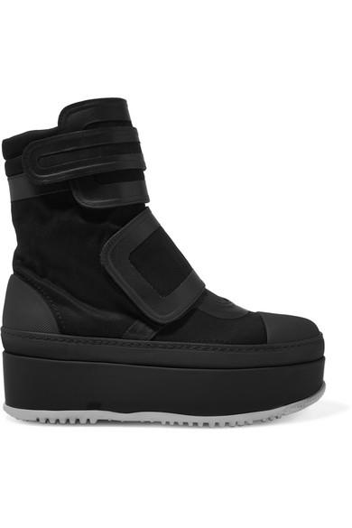3622546af76 Marni. Leather-trimmed twill platform sneakers