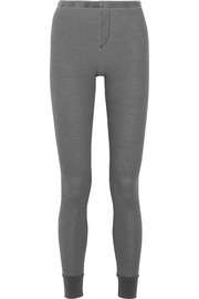 Splendid Nordic waffle-knit stretch-jersey leggings