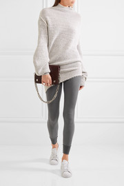 Nordic waffle-knit stretch-jersey leggings
