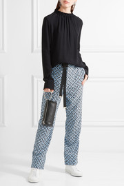 Marni Printed silk crepe de chine wide-leg pants