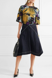 Marni Asymmetric denim skirt