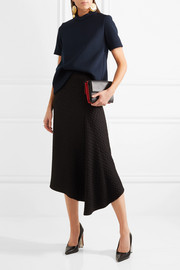 Marni Buckled textured-neoprene top